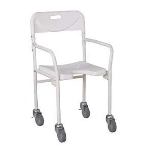 Silla de ducha plegable con ruedas ayudas de ba o aseo for Sillas para ducha plegables